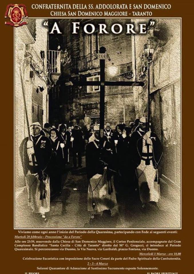 A Forore, la notte a Taranto si tinge di nero
