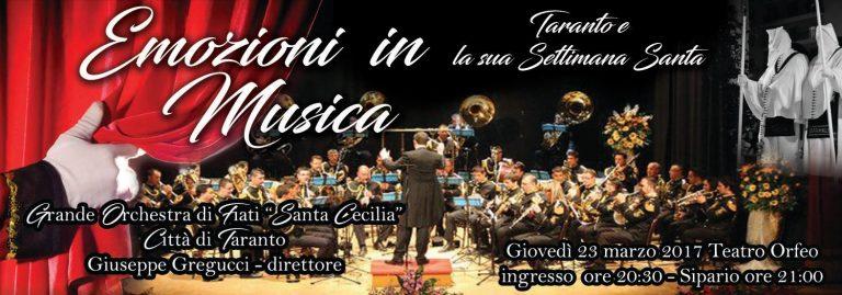 """Le marce della Settimana Santa di Taranto in un grande concerto dell'Orchestra di Fiati """"Santa Cecilia"""""""