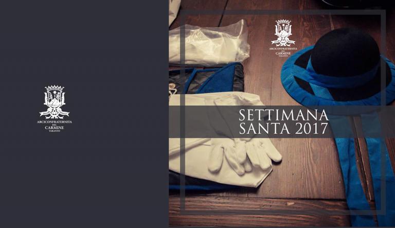Settimana Santa 2017: ecco il Calendario ufficiale della Confraternita del Carmine di Taranto