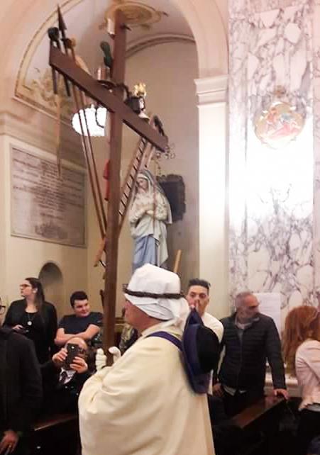 Domenica seconda Via Crucis nella Chiesa del Carmine. Settimana Santa a Taranto 2019