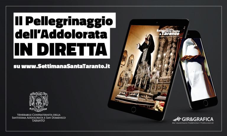 Il Pellegrinaggio della Addolorata in diretta web in tutto il mondo su SettimanaSantaTaranto.it