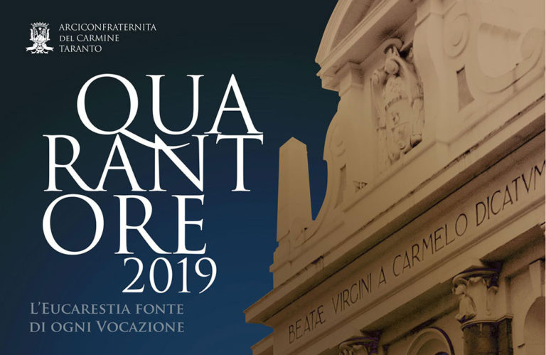 L'Arciconfraternita del Carmine di Taranto si prepara per le Quarantore 2019