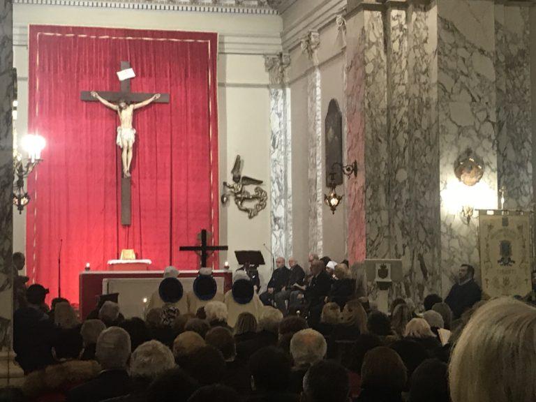 Domenica terza Via Crucis nella Chiesa del Carmine. Settimana Santa a Taranto 2019